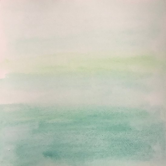 548x550 Ombre Mint Green Watercolor Hand Painted Effect Posters By