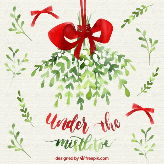 Mistletoe Watercolor