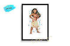 236x157 70% Moana Poster Watercolor Moana Print Disney Princess Py Decor