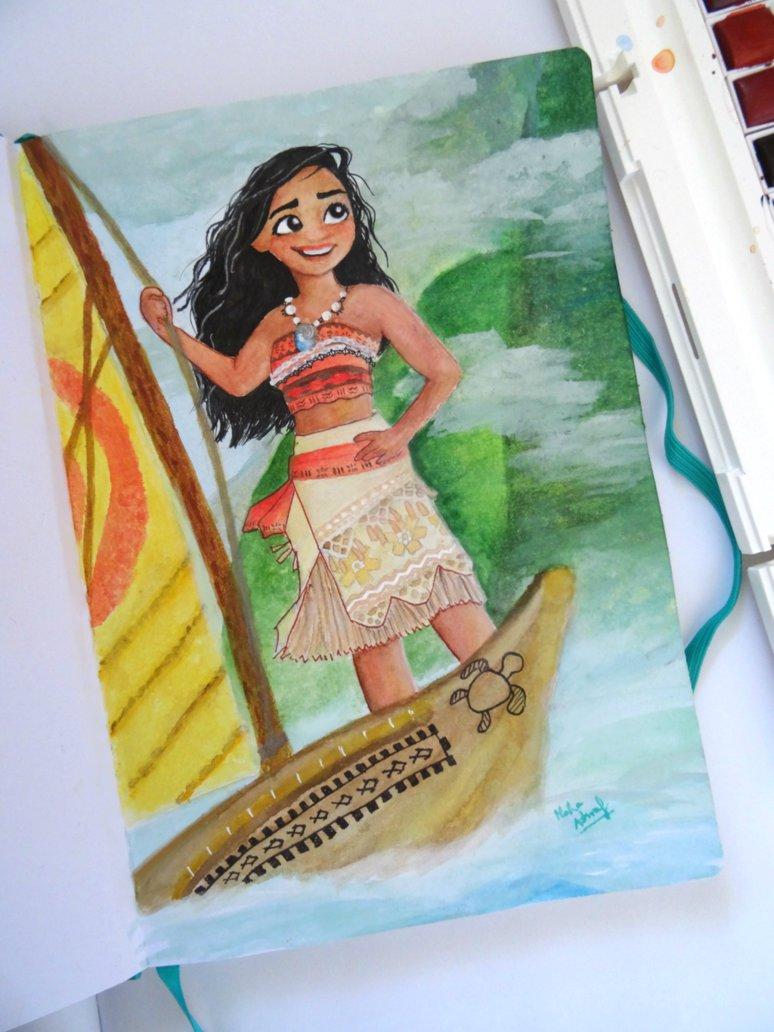 774x1032 Moana Watercolour (Sketchbook 2017