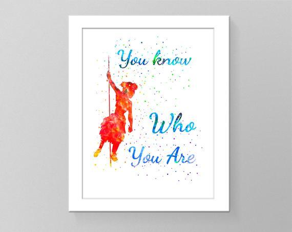 570x453 Moana Quotes Watercolor Printable Art Nursery Room Decor Kids Etsy