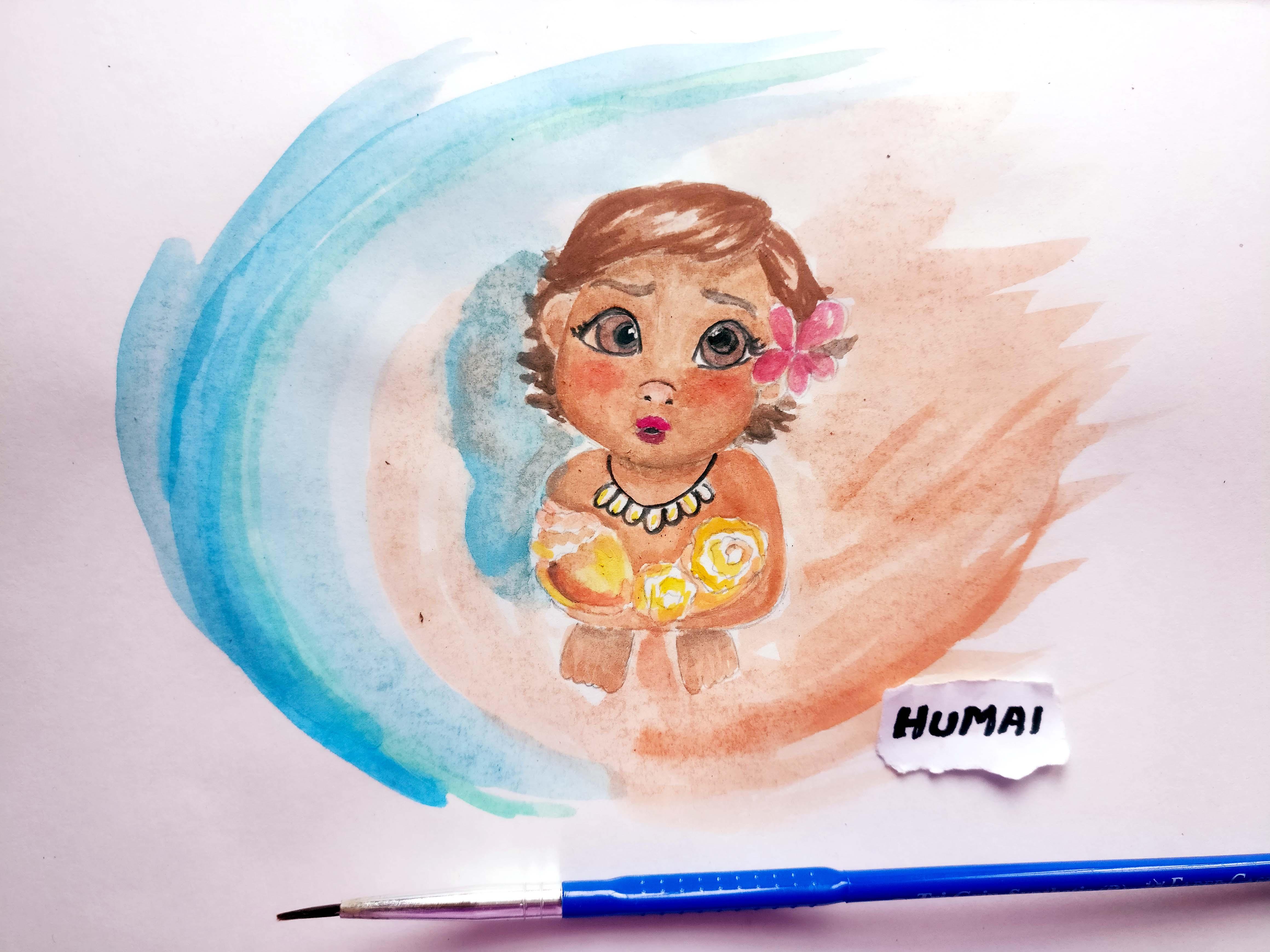 4640x3480 Painting Baby Moana With My Nephew Humaipaints