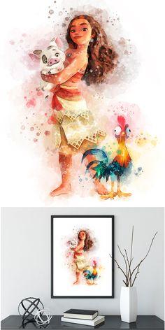 236x472 Princess Moana Art Print Moana Quote Watercolor Moana Party Disney