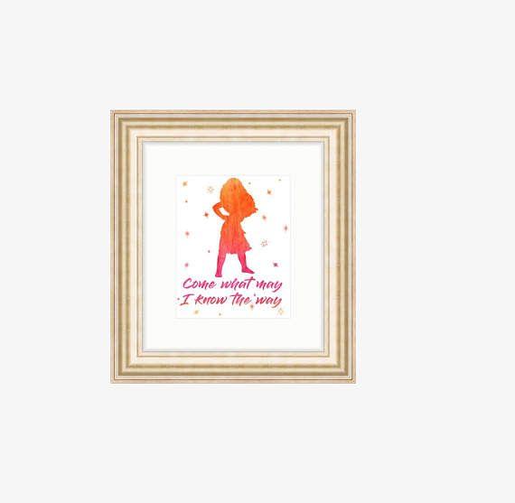 570x557 Disney Moana Watercolor Print