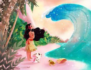 300x232 Disney Wonderground Gallery Ocean Is Calling Moana Print By
