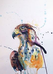 215x300 American Eagle Painting, Large Watercolor Painting Modern Home Art