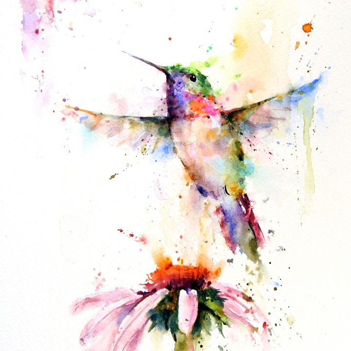 721x721 Animal Watercolor Portraits Burst With Color