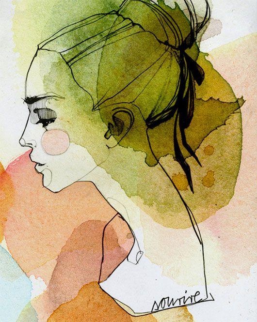 530x665 Modern Watercolor Portraits