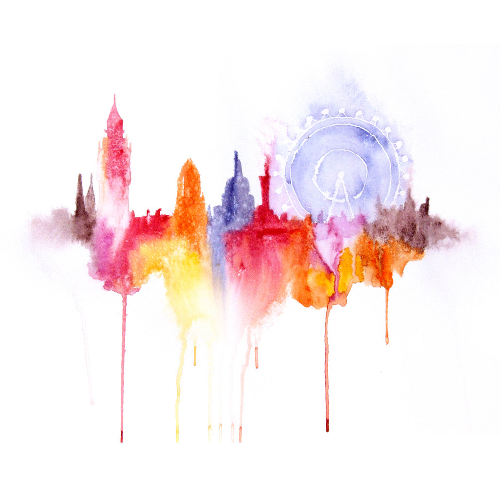 1029x1000 Modern Watercolor Paintings