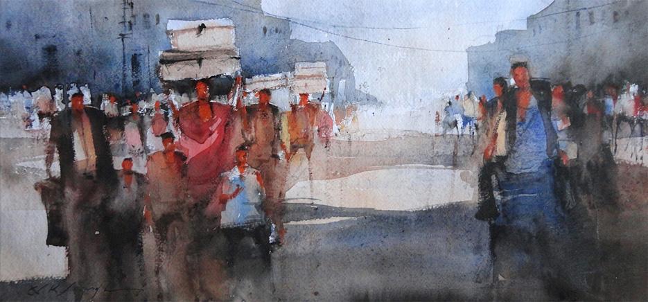 935x436 Nitin Singh Watercolor Art Online Gallery Online Art Gallery For