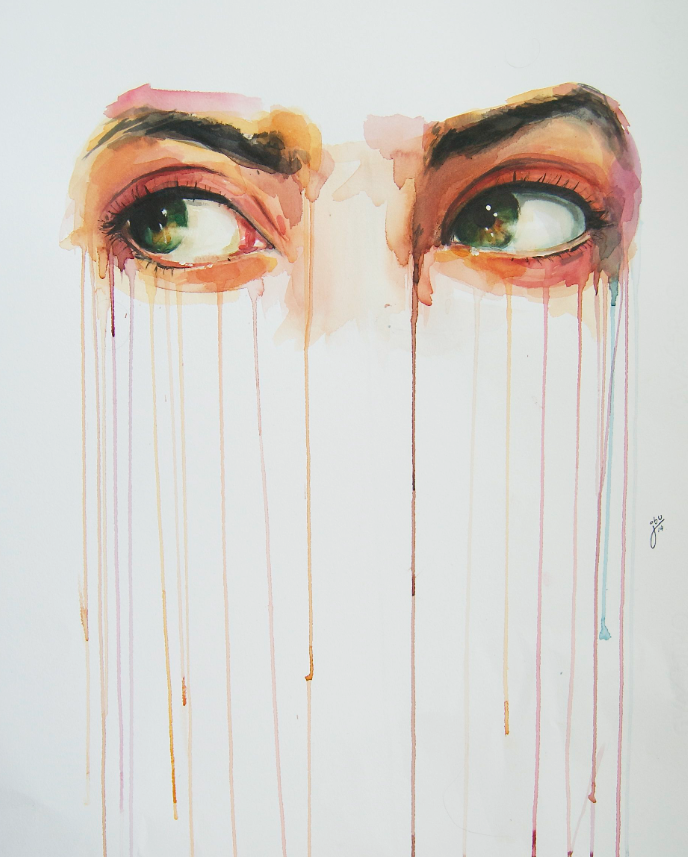 688x857 Alluring Watercolor Paintings Prove That Eyes Are Windows To The Soul