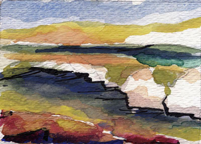 400x286 Aceo Size Modern Contemporary Seascape Landscape And Still Life