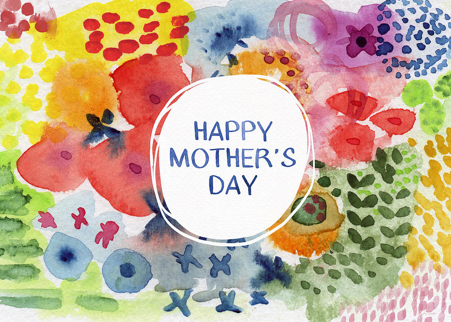 900x642 Happy Mothers Day Watercolor Garden Art By Linda Woods Painting