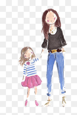 260x387 Mother And Daughter Png, Vectors, Psd, And Clipart For Free