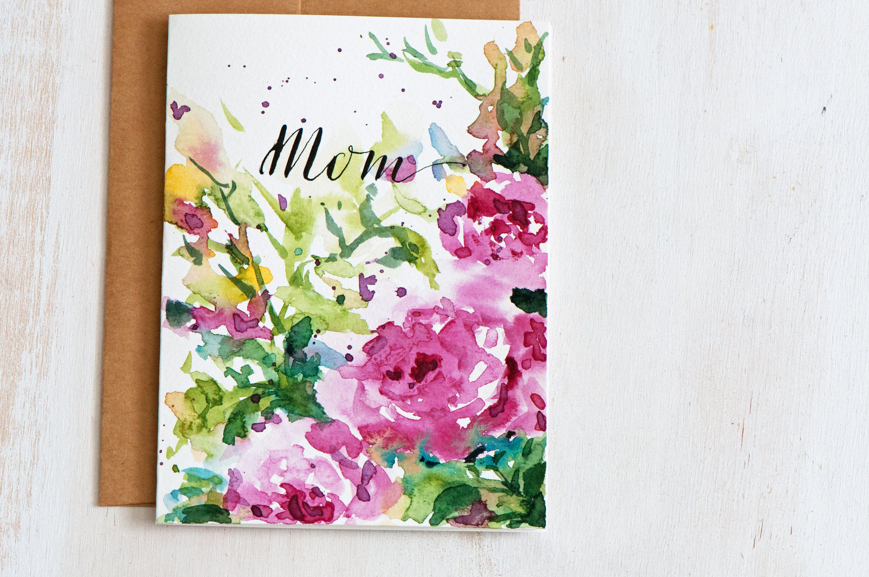 3000x1993 Mothers Day Card Unique, Hand Painted Watercolor Cards, Hand