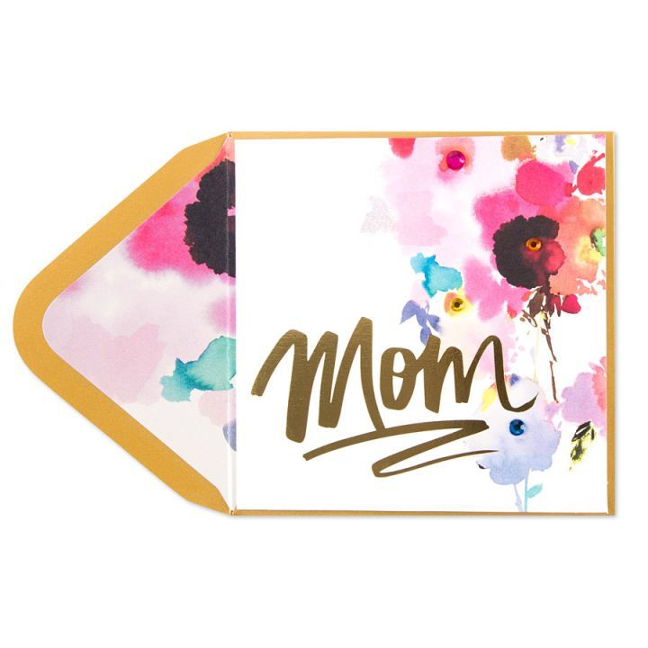 720x720 Papyrus Greetings Mothers Day Card Mom Watercolor Gem Floral