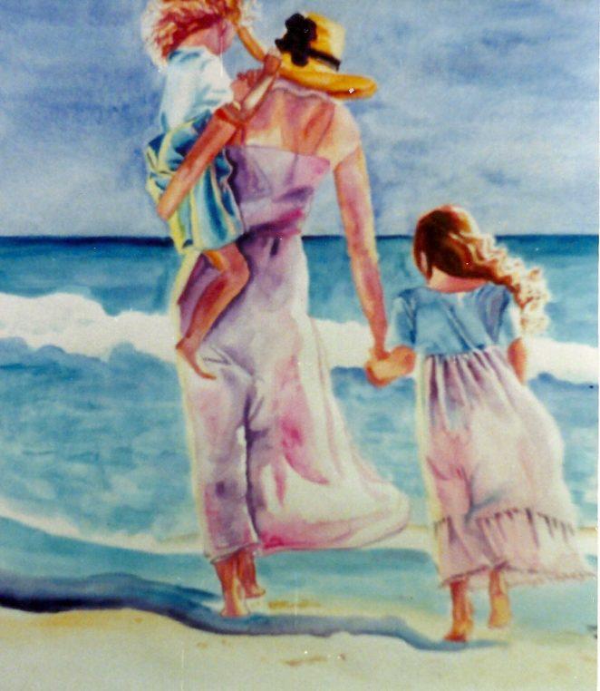 662x762 Beach Mom Watercolor