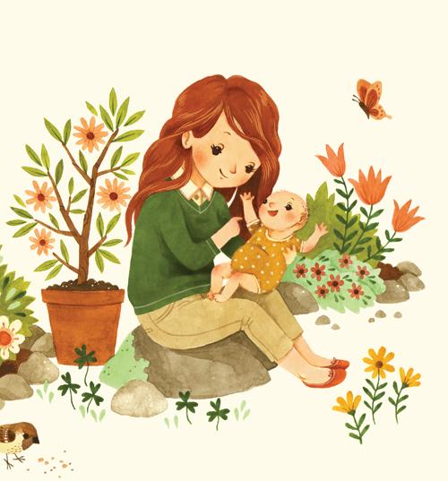 500x537 Bunny Roo Mom Amp Baby Garden Pg 30 31 Watercolor B... Trampt Library