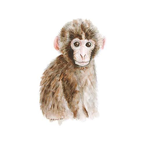 Monkey Watercolor