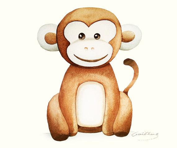570x475 Monkey Wall Art Print