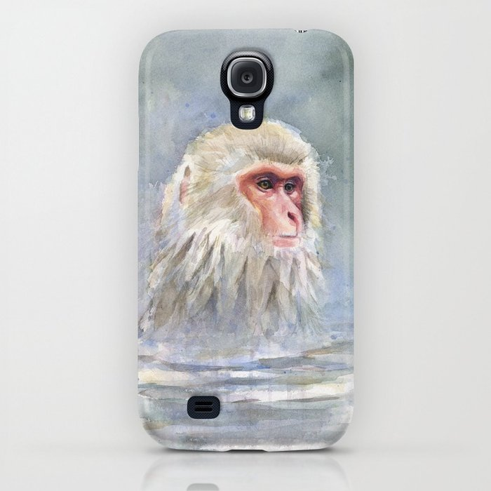 700x700 Snow Monkey Watercolor Animal Iphone Case By Olechka Society6