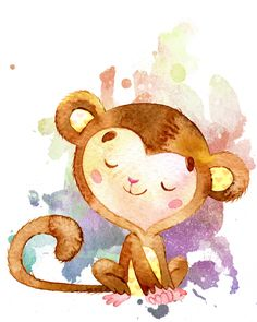 236x295 Cally Jane Studio Some Lovely Monkeys Watercolor