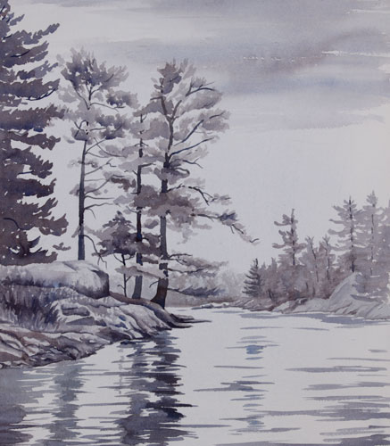 437x500 Water, Lake And River Watercolor Paintings By Debbie Homewood