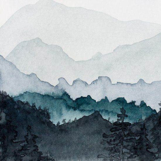 550x550 How To Paint Watercolor Mountains (Craft Gawker) In 2018 Toilet