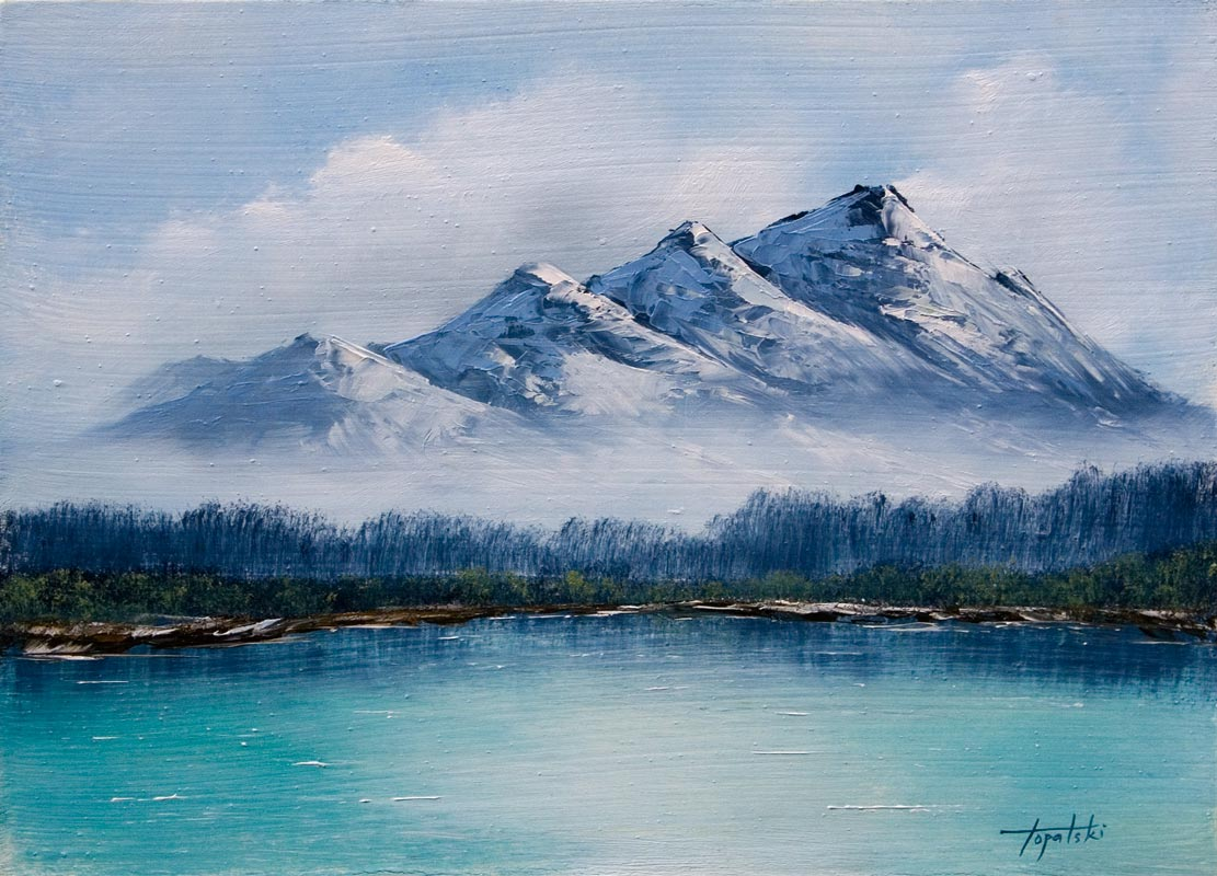 1111x800 Frosty Mountains Oil Painting Fine Arts Gallery