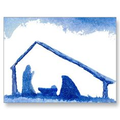 Nativity Scene Watercolor