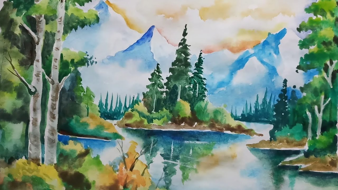 Nature Watercolor Painting at GetDrawings | Free download