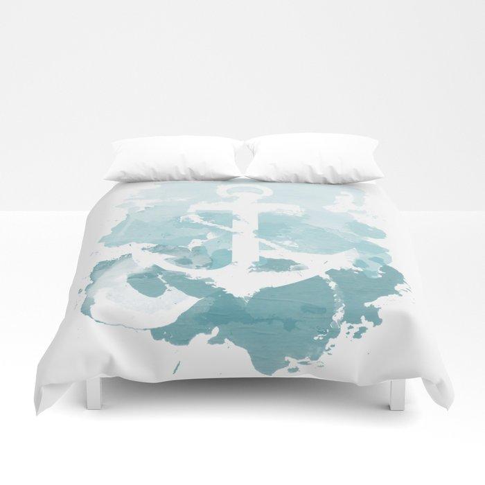 700x700 Nautical Watercolor Duvet Cover By Joeyj Society6
