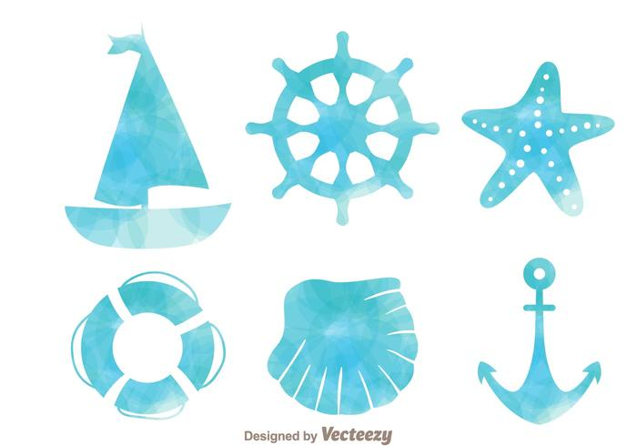 700x490 Nautical Watercolor Effect Icons