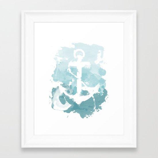 550x550 Nautical Watercolor Framed Art Print By Joeyj Society6