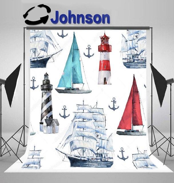 608x640 Nautical Watercolor Nautical Various Boats Ships Vessels Anchor