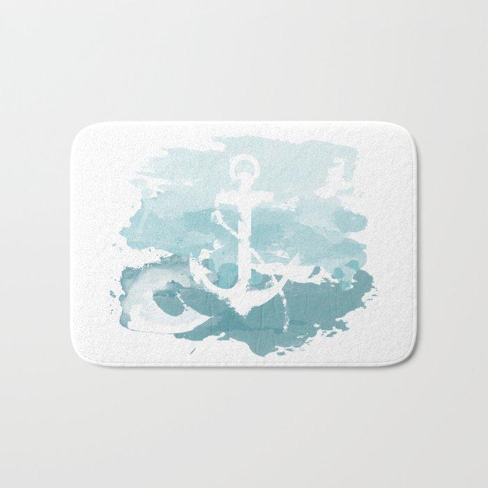 700x700 Nautical Watercolor Bath Mat By Joeyj Society6