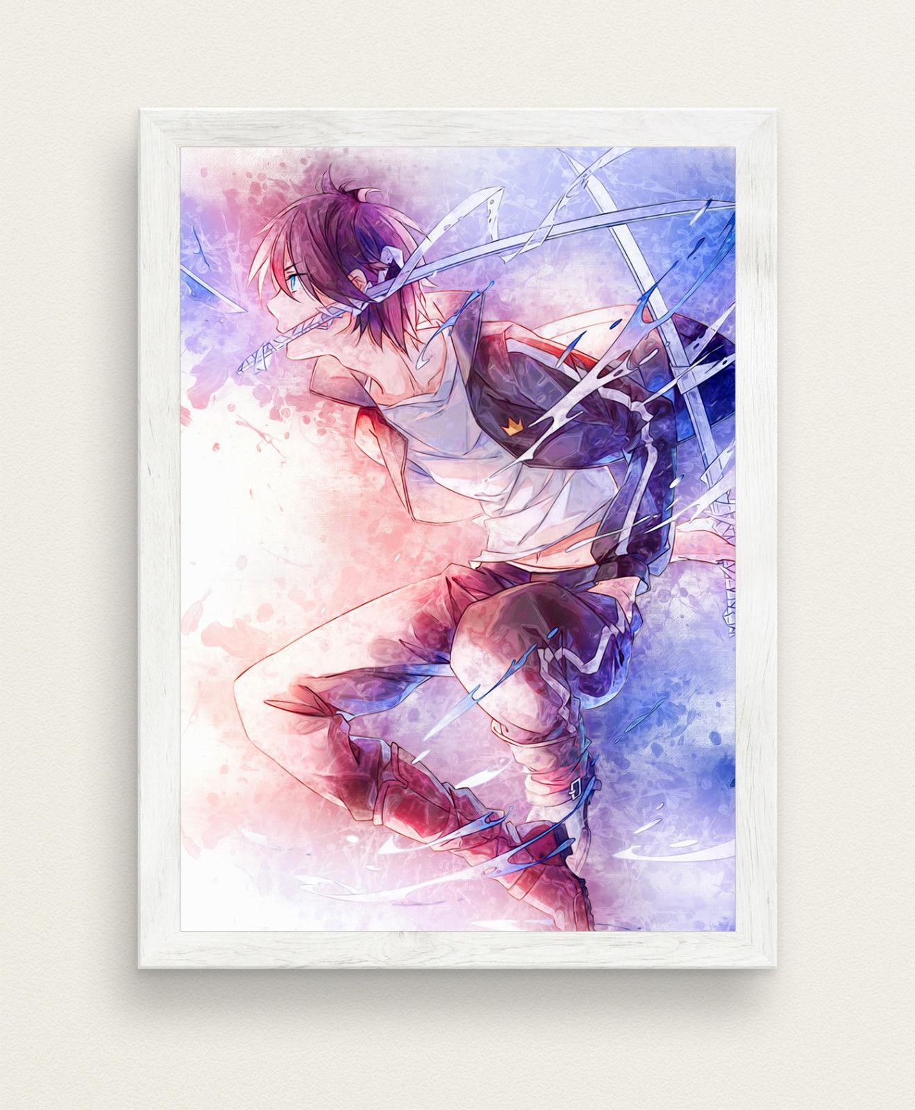 1318x1600 Noragami Watercolor Poster Anime Poster Big Size 33x47 Gift Otaku