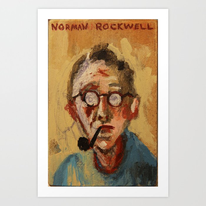 Norman Rockwell Watercolor