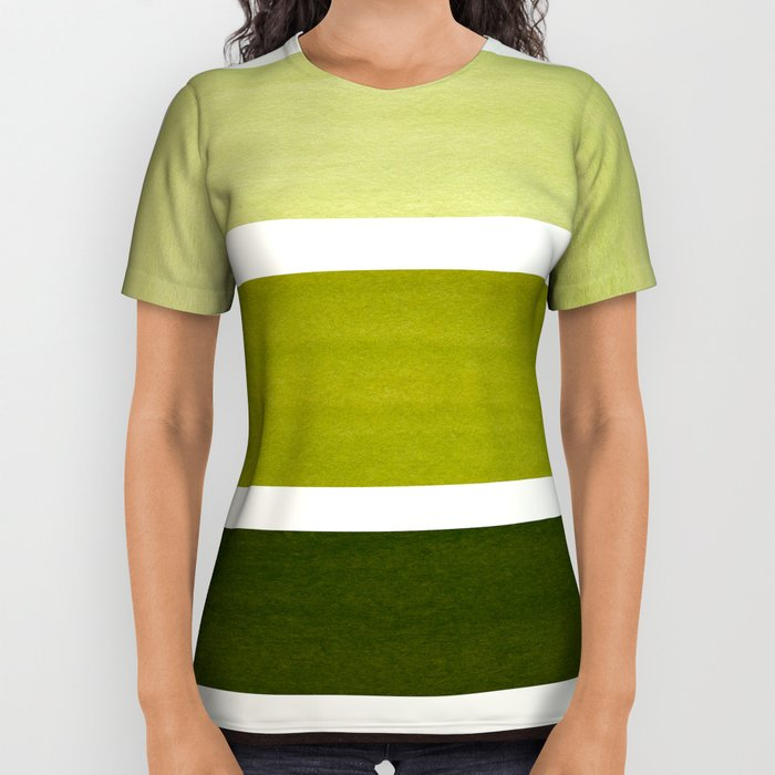 700x700 Olive Green Minimalist Watercolor Mid Century Staggered Stripes