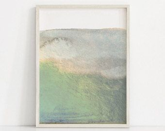 340x270 Sage Green Print, Abstract Print, Forest Green Art Print