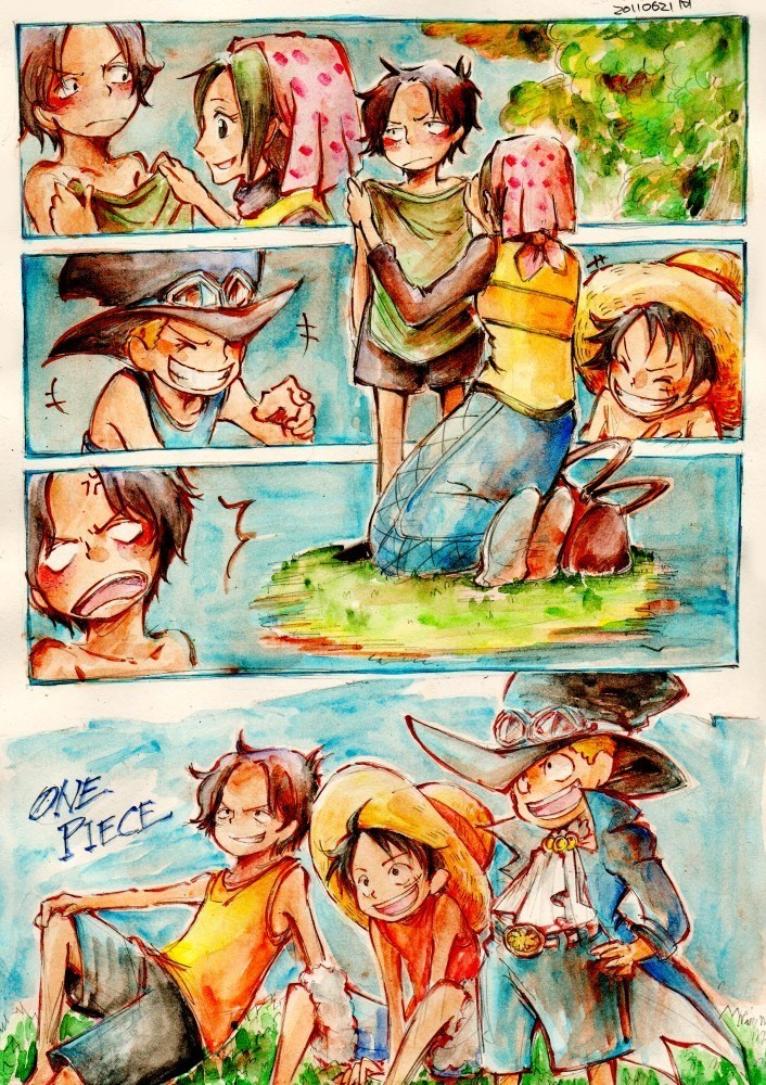 One Piece Watercolor At Getdrawings Com Free For Personal Use One