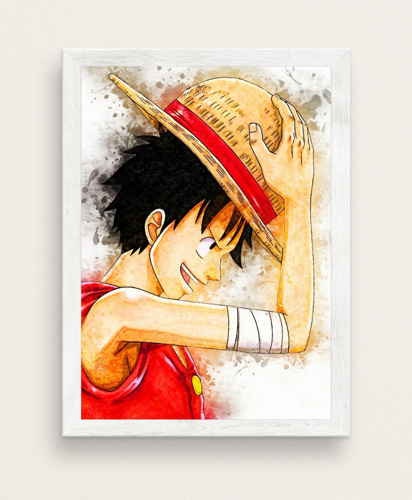 1318x1600 One Piece Watercolor Poster Anime Poster Big Size 33x47 Gift Otaku