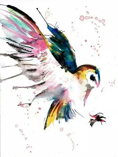 500x663 Watercolour Owl Tattoo Ideas In 2018 Owl
