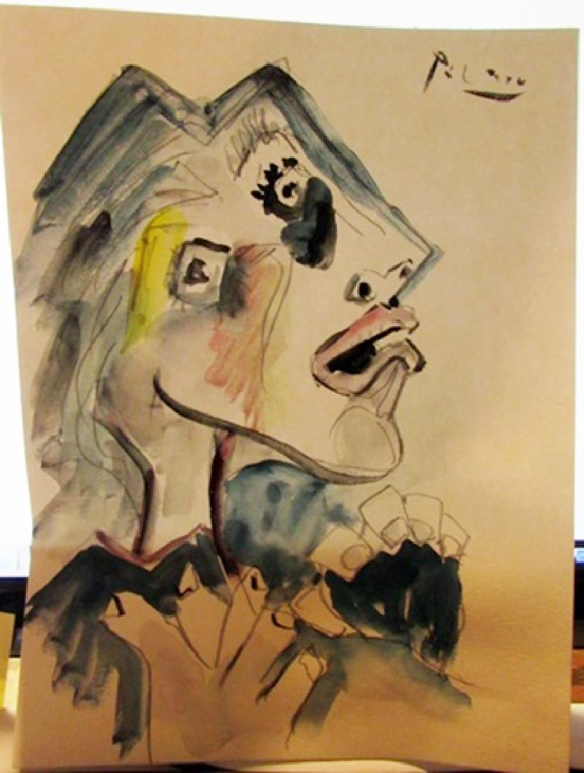 832x1100 Vintage Pablo Picasso Watercolor Art For Sale Amp Antique Pablo
