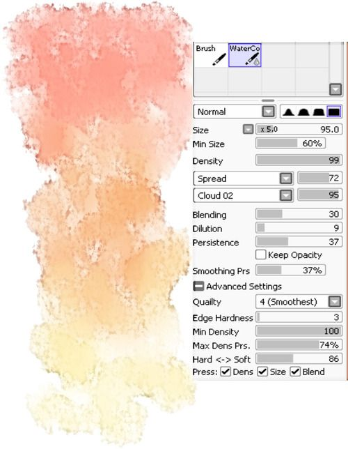 Paint Tool Sai Watercolor Brush