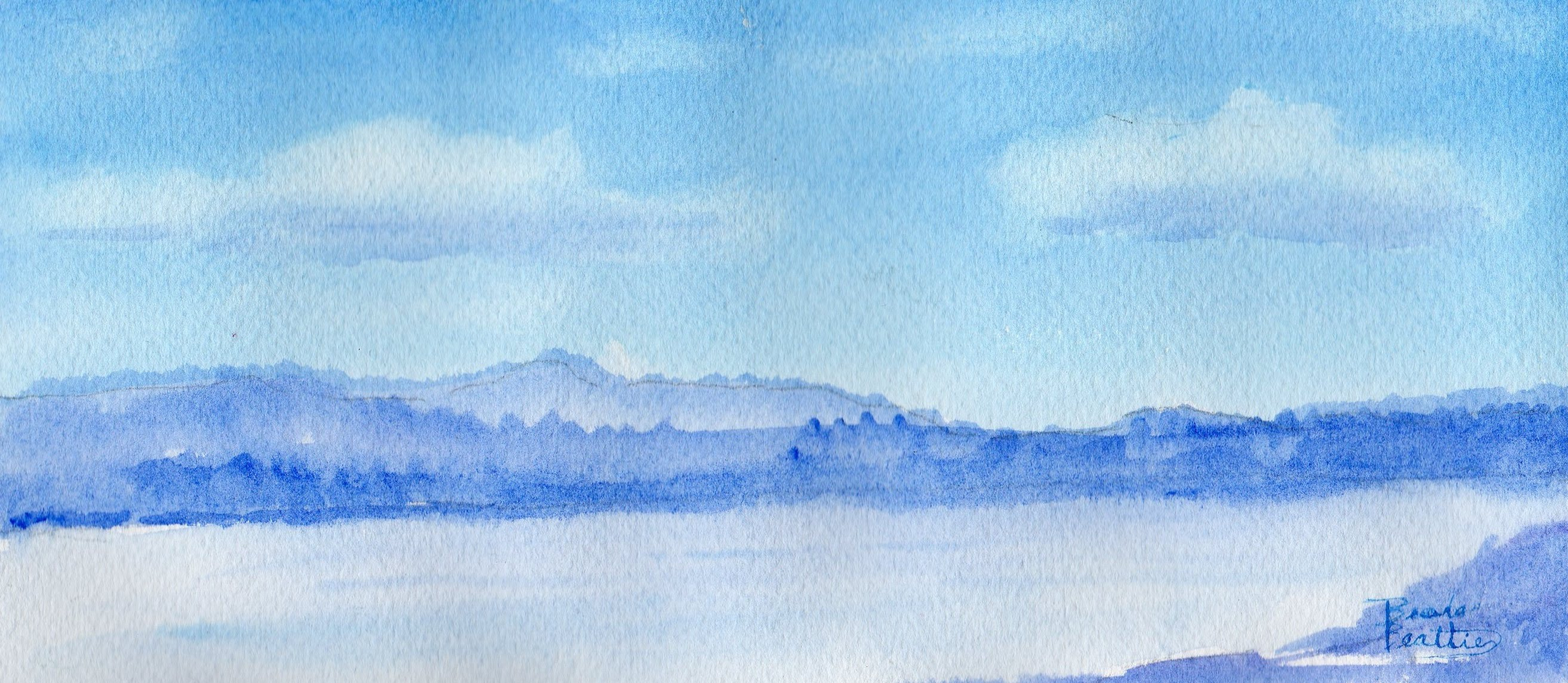 Painting Clouds In Watercolor