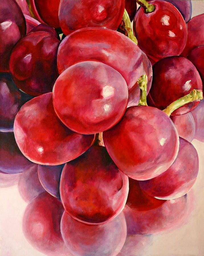 Painting Grapes In Watercolor