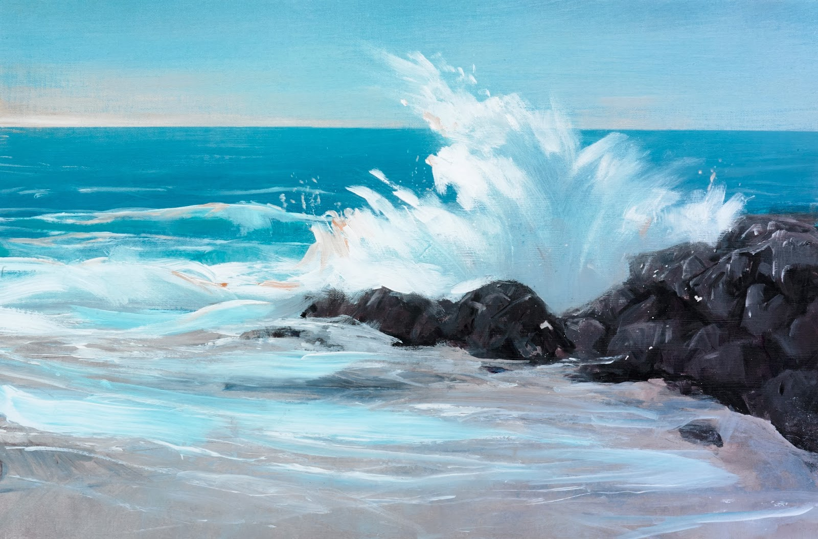 Painting Ocean Waves In Watercolor