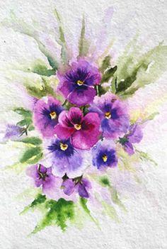 Painting Pansies In Watercolour