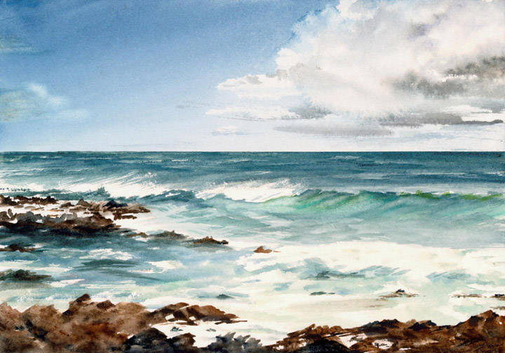 720x504 Seascape Watercolor Paintings By Douglas Winslow